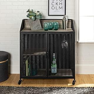 WE Furniture Bar Cabinet, Grey Wash