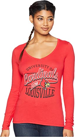 Louisville Cardinals Long Sleeve V-Neck Tee