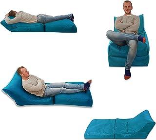 MaxiBean Bed Chaise Pouf Poire Turquoise/Bleu Aqua Intérieur et extérieur siège Extra Large pour Gaming résistant aux intempéries imperméable Taille XXXL
