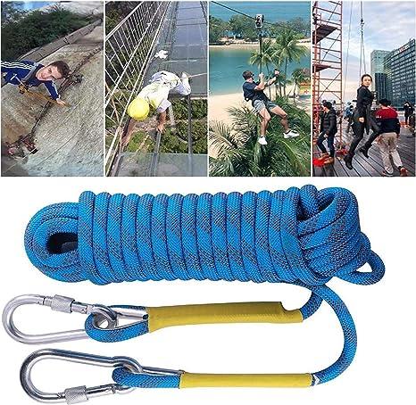 Cuerda estática cuerda de escalada tendedero, 12 mm en caso ...