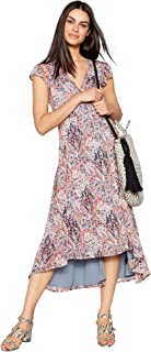 909a764e05038 Debenhams Nine by Savannah Miller Womens Multicoloured Paisley Midi Wrap  Dress