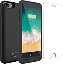 Alpatronix iPhone 7 Plus Battery Case, 5000mAh Slim Portable Protective Extended Charger Cover Compatible with iPhone 7 Plus (5.5 inch) BX180plus - (Black)