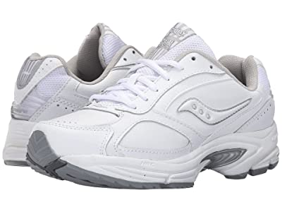 Saucony Grid Omni Walker (White/Silver) Women