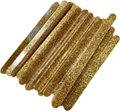 Reusable Acrylic Popsicle Cake Cakesicle Mold Sticks- Set of 30 for Party Favors (Gold Glitter)