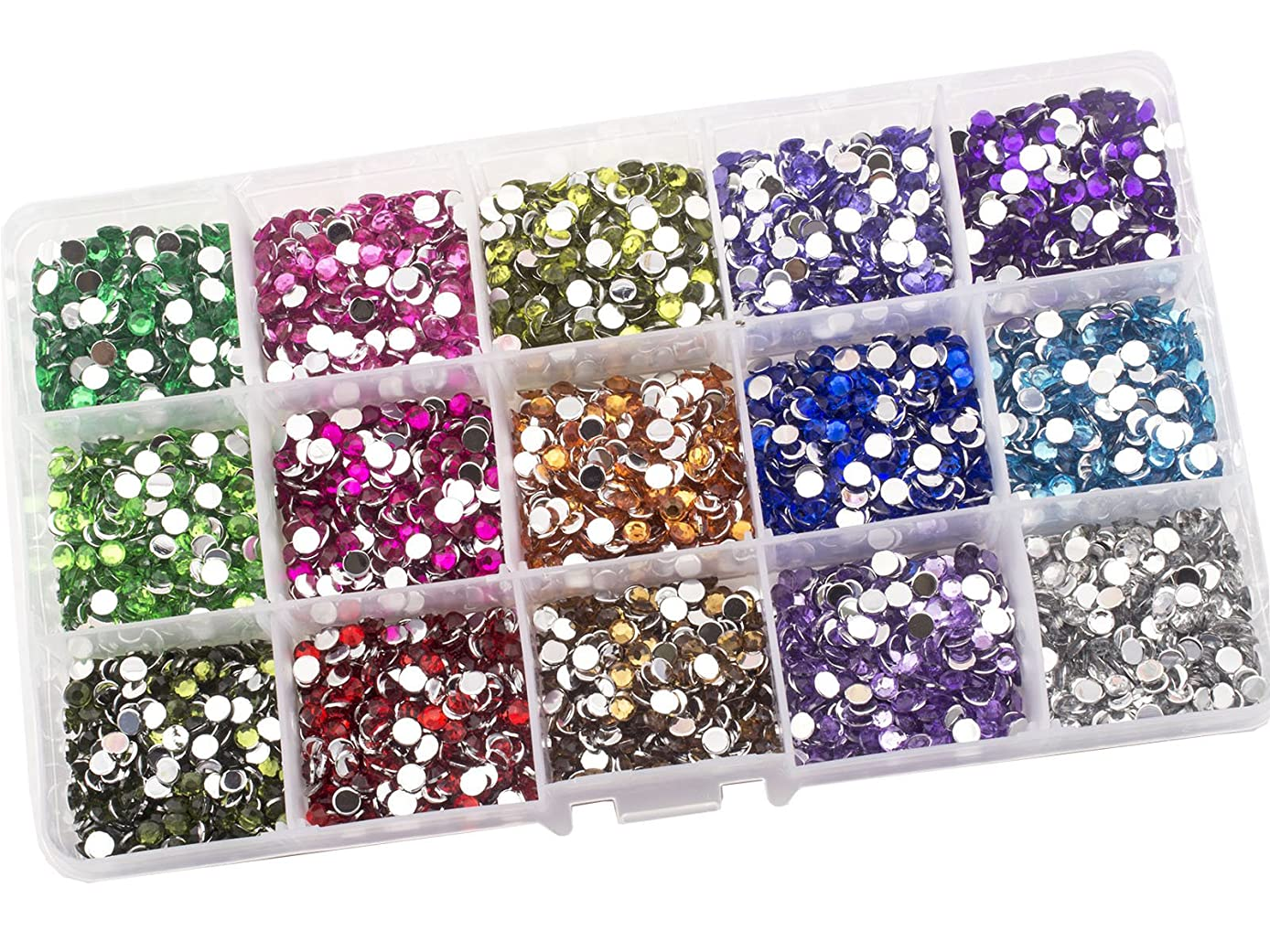 Summer-Ray 4mm Assorted Color Rhinestones In Storage Box (Color Collection #2)