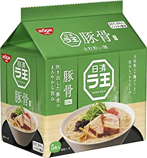 日清 ラ王 豚骨 5食パック 415g ×6袋