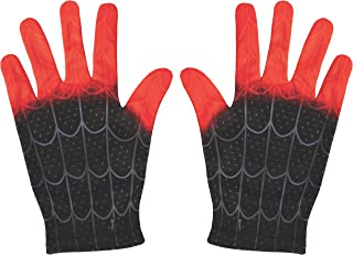 black spiderman costume gloves