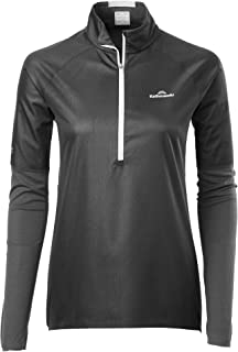 Kathmandu Zeolite Womens Hybrid 1/4 Zip Windproof Breathable Warm Long Sleeve v2