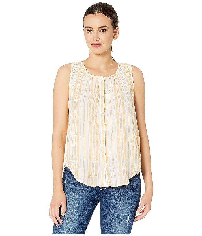 Lucky Brand Striped Sleeveless Shirt (Gold Multi) Women