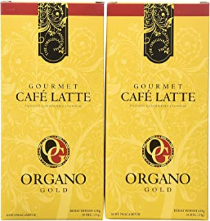 Organo Gold 2 Box Cafe Latte 100% Certified Organic Gourmet Coffee
