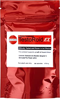 TESTOROID EXTREME ANABOLIC TESTOSTERONE **ONE MONTH SUPPLY** 100% SAFE STRONGEST TESTOSTERONE BOOSTER AVAILABLE GREAT RESULTS ISTANT EFFECTS