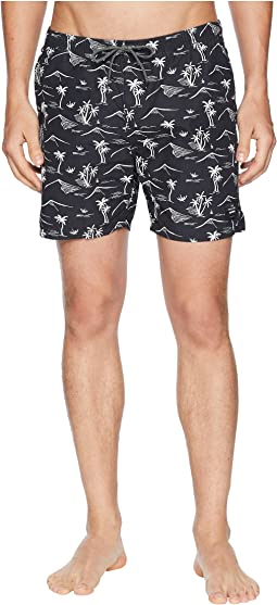 Scotch & Soda Elasticated Swim Shorts with Colourful All Over Print