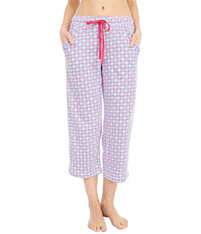 Karen Neuburger Petite Sunday In Sorrento Capris Pants (Red Rose Geo) Women
