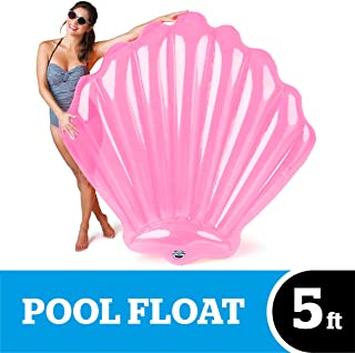 BigMouth Inc Giant Inflatable Pink Seashell Pool Float, Funny Inflatable Vinyl Summer Pool or Beach Toy, Patch Kit Included