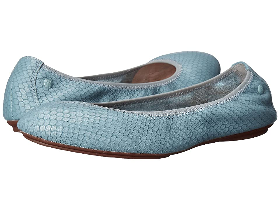 Hush Puppies Chaste Ballet (Slate Blue Embossed Leather) Women