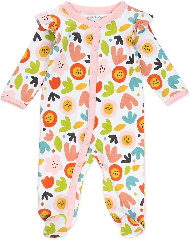 Brick Red and Light Pink Cat Print Mac /& Moon Pant Set 2-Pack 3M