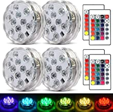 Submersible Led Lights Waterproof Multi-color Battery Remote Control, Party Perfect Decorative Lighting, Suitable for Aqua...