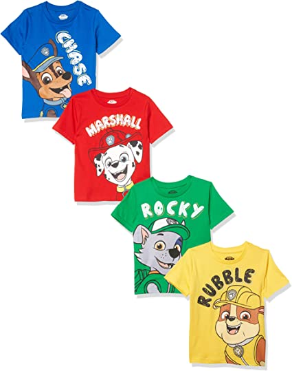 Paw Patrol Shirt for Toddler Boys Marshall Chase Rubble Tee T-Shirt Cute 4T