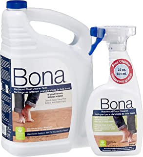 Bona 160 oz. Hardwood Floor Cleaner Refill with 22 oz. Bonus Spray Bottle