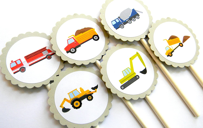 Trucks Cupcake Toppers - 12 Set Nippon regular agency of It is very popular