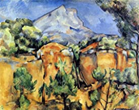 Paul Cezanne Mont Sainte-Victoire Seen from the Bibemus Quarry - 20