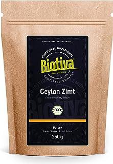 comprar comparacion Polvo de canela de Ceilán orgánica 250 g - 100% calidad orgánica - polvo de canela - vegano - sin azúcar añadido - envasad...