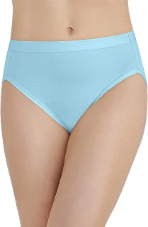 Vanity Fair Women's Comfort Where It Counts Hi Cut Panty 13164, Blue Topaz, 2X-Large/9