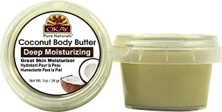 OKAY | Coconut Butter | For Hair and Skin | Easily Absorbed | 100% Natural | Free of Silicone & Paraben | 1 oz
