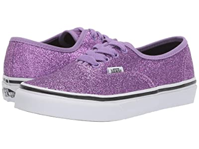 Vans Kids Authentic (Little Kid/Big Kid) ((Glitter) Fairy Wren/True White) Girls Shoes
