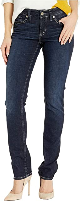 Elyse Mid-Rise Curvy Fit Straight Leg Jeans in Indigo