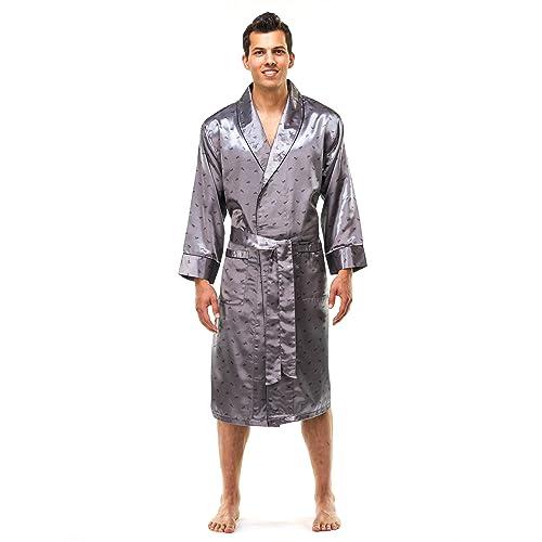 Noble Mount Mens Premium Satin Robe ef28e6c82