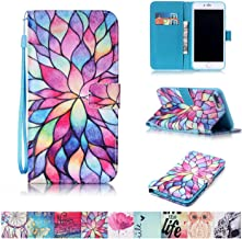 iPhone 7 Plus Case, Firefish Kickstand Flip [Card Slots] Wallet Cover Double Layer Bumper Shell with Magnetic Closure Strap Protective Case for Apple iPhone 7 Plus