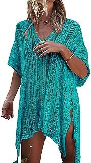 Tkiames Mujer Trajes de Baño Cubrir Tapa de Bikini de Playa Borla Traje de Baño Cover Up