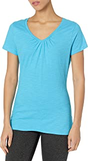 Hanes Women's Shirred V-Neck T-Shirt