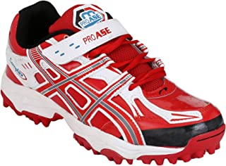 PRO ASE Red Synthetic Cricket Shoes
