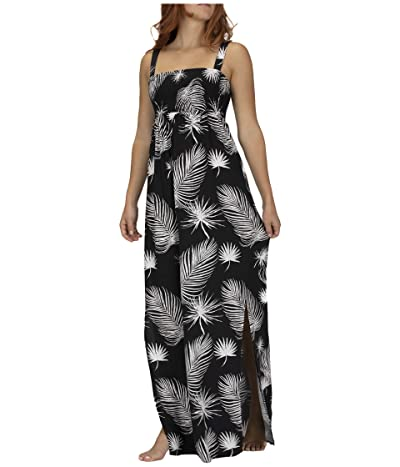 Hurley Lei Maxi Dress (Black/Palm) Women