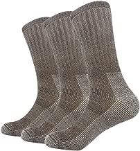 Vihir Men's Thermal 80% Merino Wool Hiking Calf Tube Socks, 3 Pack