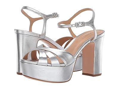 Schutz Keefa (Prata Metallic Napa) High Heels