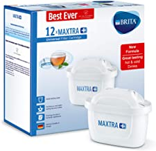 BRITA MAXTRA+ Water Filter cartridges, Compatible with All BRITA jugs for Chlorine and limescale Reduction, 12 Pack