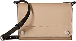 Susan Saffiano Leather Flap Crossbody