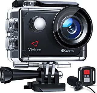 Victure Nativo 4K60FPS Action Cam 4K Schermo a Touch 20MP WiFi 40M Fotocamera Subacquea EIS 2×1350mAh Batterie Ricaricabil...