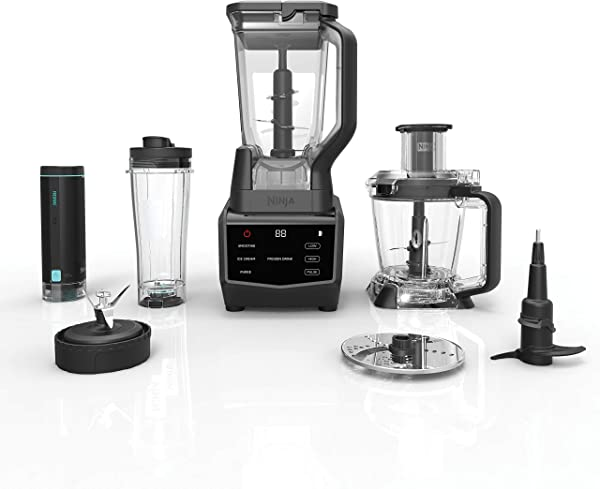 Ninja Smart Screen Blender And Food Processor With FreshVac Technology 1400 Peak Watt Base 9 Auto IQ Programs Touchscreen Display CT672V