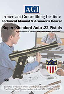 American Gunsmithing Institute Armorer's Course Video on DVD for Ruger Standard Auto .22 Pistol - Technical Instructions for Disassembly, Cleaning, Reassembly and More