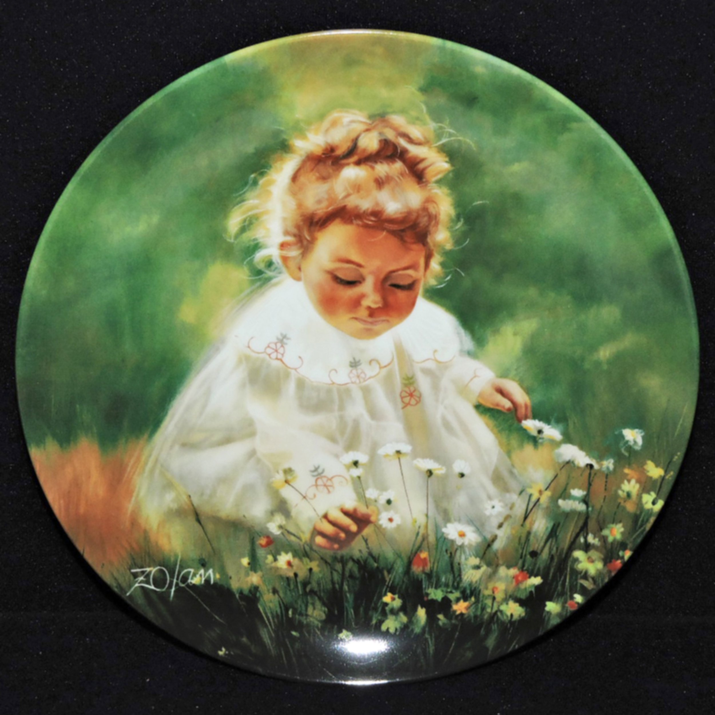 Donald Zolan Wonder of Childhood Collection Plates
