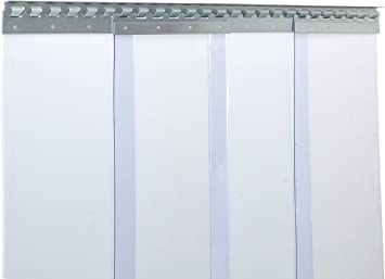 VZ fertig vormontiert H1,75 x B1,00 m PVC Streifenvorhang Lamellen 3x300mm