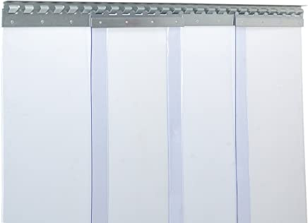 PVC Streifenvorhang Lamellen 3x300mm VZ H3,50 x B1,75 m fertig vormontiert