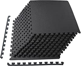 BalanceFrom Mat Exercise Matter with EVA Foam Interlocking Tiles، Black