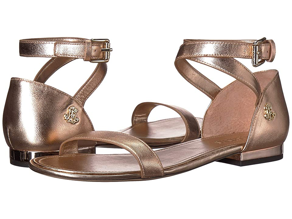 LAUREN Ralph Lauren Davison (Rose Gold Metallic Leather) Women