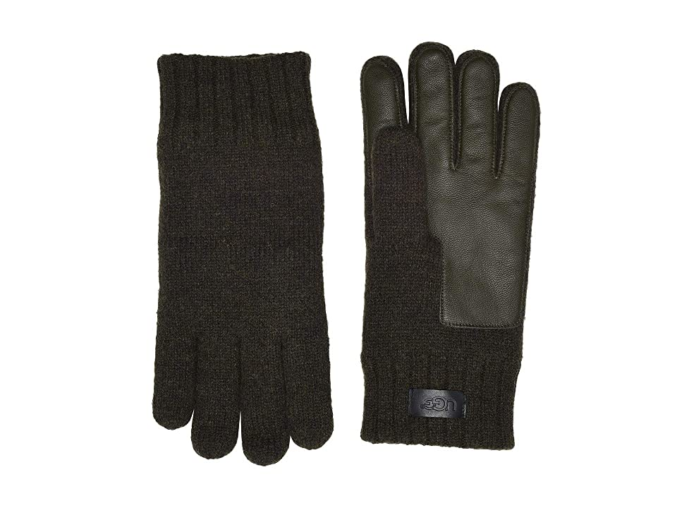 UGG Knit Conductive Leather Gloves (Spruce) Extreme Cold Weather Gloves