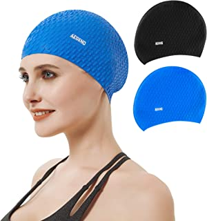 Aegend Swim Cap for Women and Men, 2 Pack Silicone...